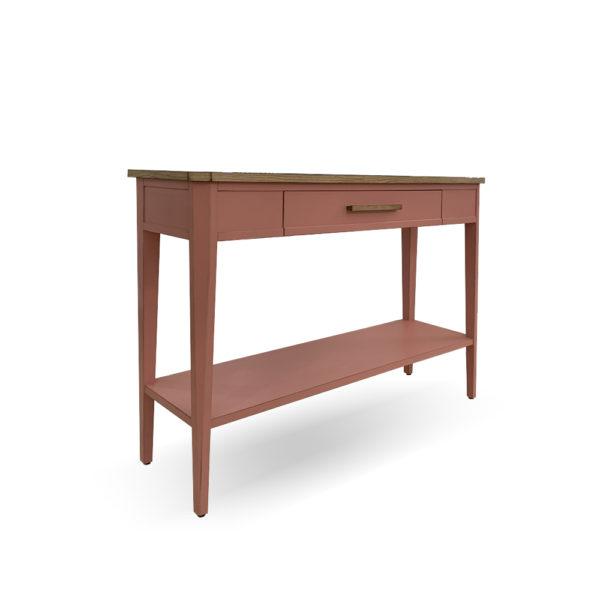 Consola de madera con cajón y balda