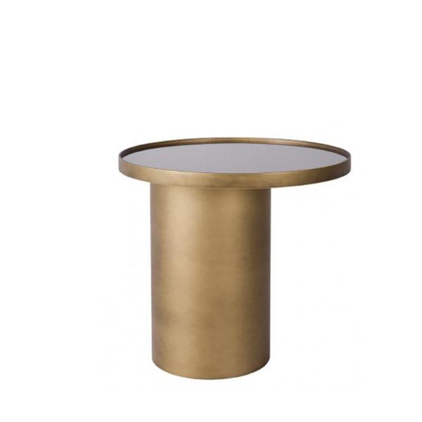 Mesa auxiliar en color bronce cepillado