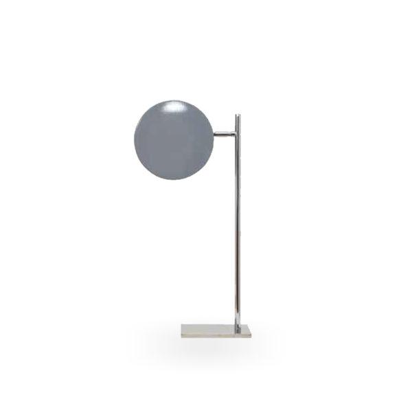 Lámpara de sobremesa en plata y gris