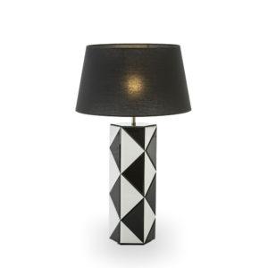 Lámpara con base geométrica de cristal