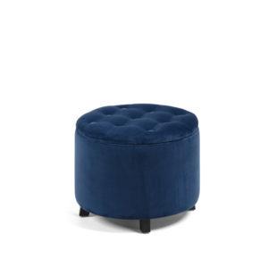 Puff/caja de terciopelo azul