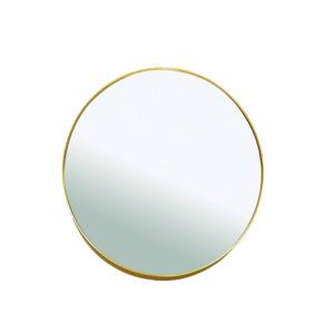 Espejo dorado ovalado