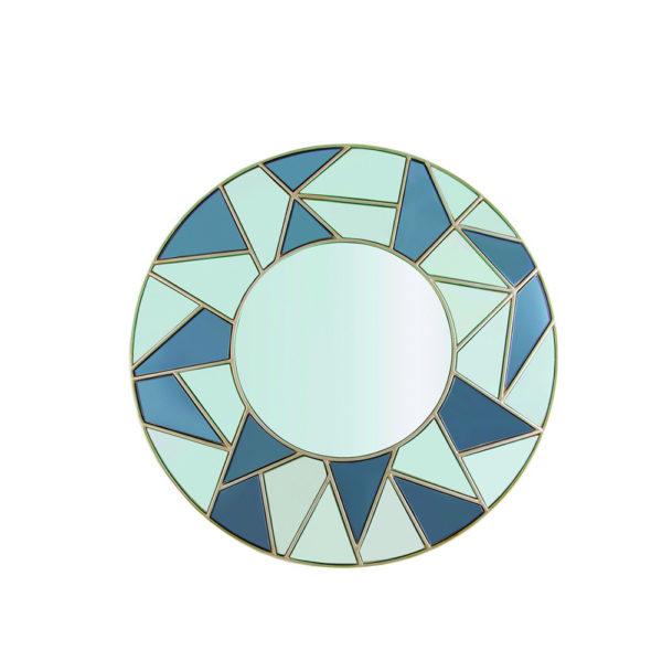 Espejo redondo con marco de colores