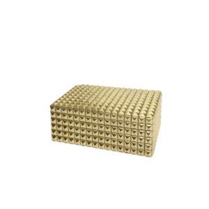 Caja rectangular dorada