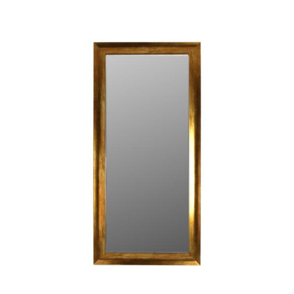 Espejo grande con moldura dorada