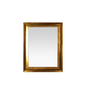 Espejo pequeño con moldura dorada