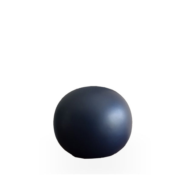Bola de cerámica azul mate