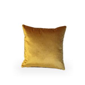 Cojín cuadrado de terciopelo oro Vicenza de Designers Guild