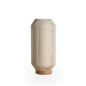 Lámpara con varillas de metal blanca