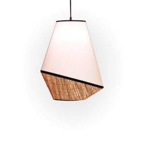 Lámpara de techo de algodón y rafia