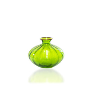 Jarrón Rigadin de cristal verde de Venini