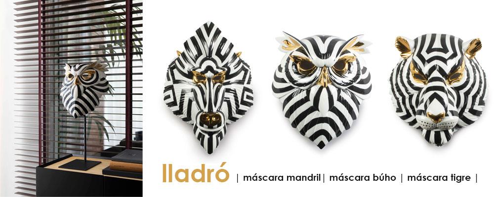 Máscaras de animales de Lladró, tienda de decoración online