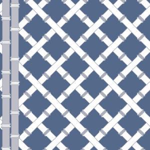 5455/004 Trellis azul/blanco de Gastón y Daniela