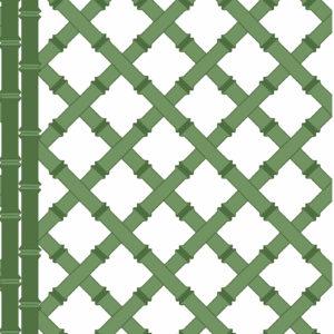 5455/002 Trellis verde/blanco de Gastón y Daniela