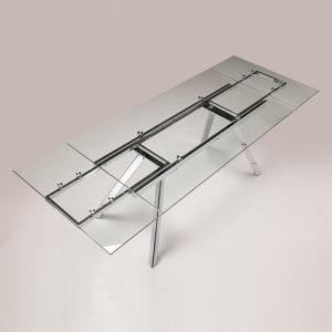 Mesa de comedor Olivia extensible de cristal