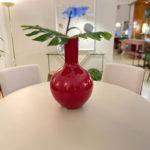 Jarrón de cerámica fucsia