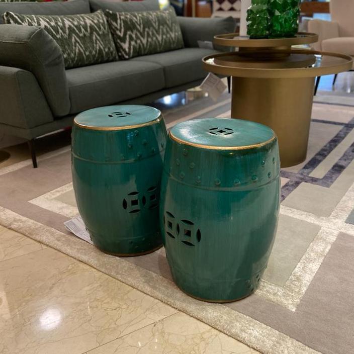 Tibor de cerámica verde