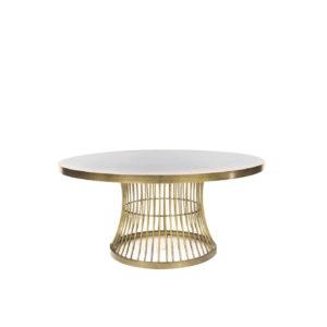 Mesa de centro de hierro color champán