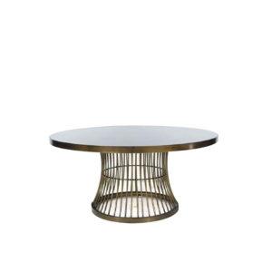 Mesa de centro de hierro color bronce