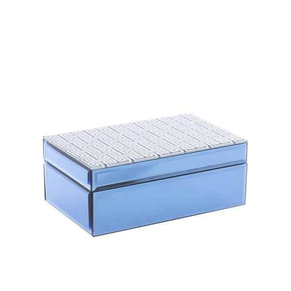 Caja de espejo azul