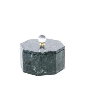 Caja de mármol verde grande