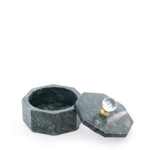 Caja de mármol verde pequeña