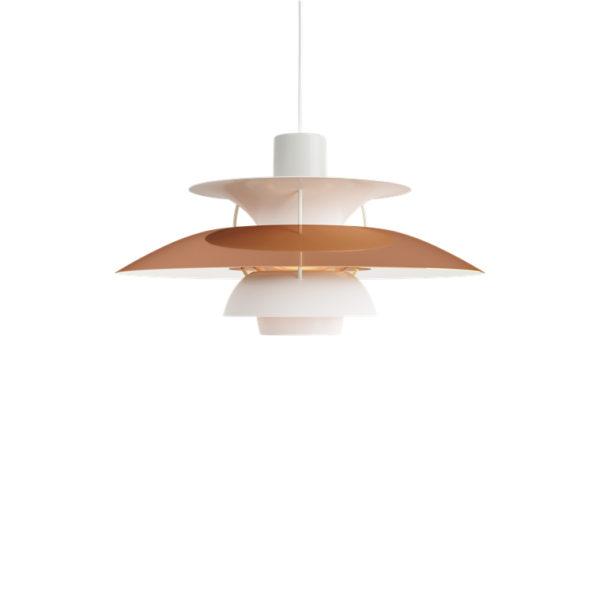 Lámpara de techo PH5 cobre de Louis Poulsen