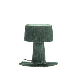40077/00 Lámpara de sobremesa con flecos largos verdes