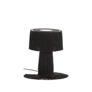 4007800 Lámpara de sobremesa con flecos largos negros