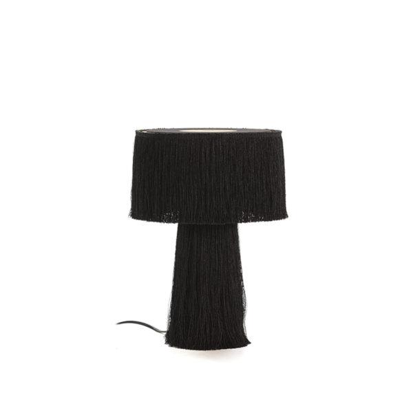 4008800 Lámpara de sobremesa con flecos negros