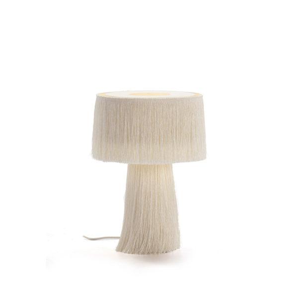 4008900 Lámpara de sobremesa con flecos blancosl