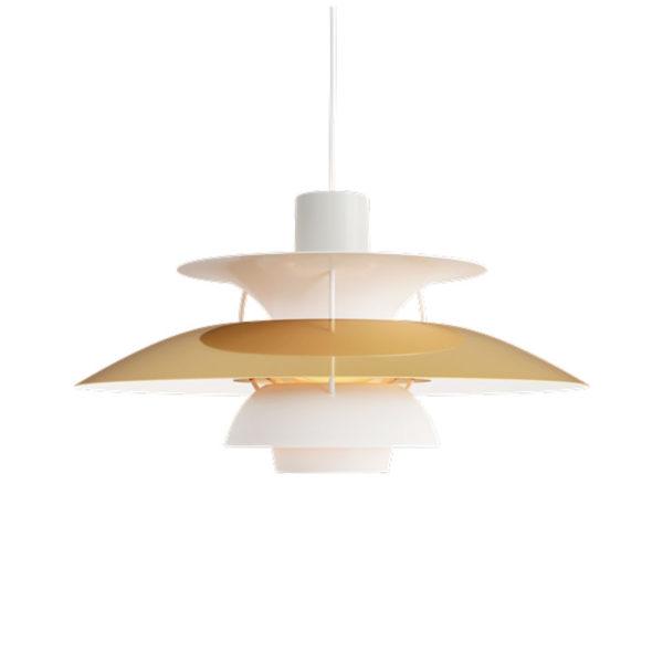 Lámpara de techo PH5 latón de Louis Poulsen