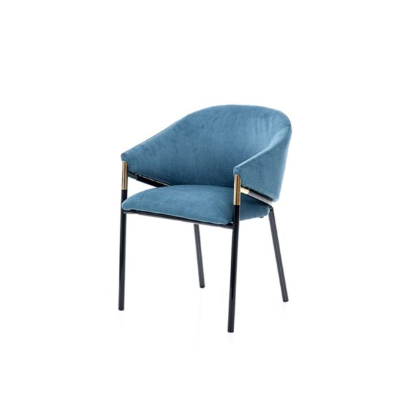 Silla con diseño años 70 azul claro