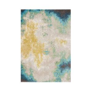41040500 Alfombra en tonos azules y ocres