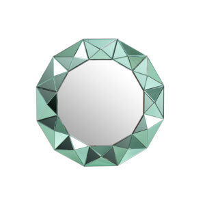 Espejo redondo con cristal verde