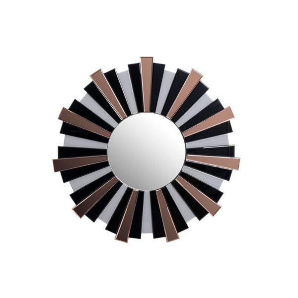 Espejo redondo con cristal de color