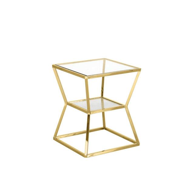 Mesa de rincón Ascari dorada