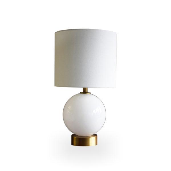 Lámpara esférica de cristal blanco