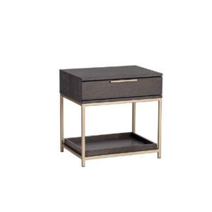 Mesa de noche con cajón y balda